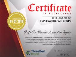 automotive repair complaints chilliwack all makes auto repair ralph van woerden automotive