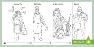 Irish Celtic Gods And Goddesses Colouring Pages Irish Requests