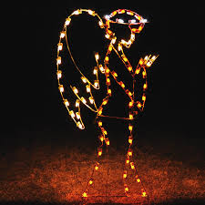 holiday lighting specialists 6 75 ft angel outdoor decoration with led multicolor lights