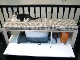 diy litter box furniture hiding cat litter boxes using a bench diy litter box furniture ikea