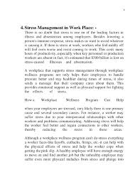 stress management report 5 44 stress management in work place