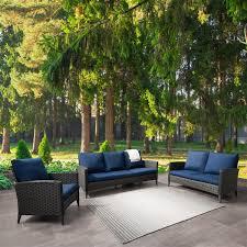 corliving rattan conversation patio set