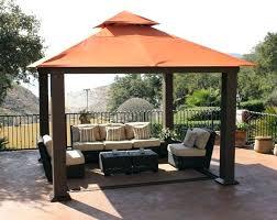 diy patio canopy backyard shade ideas outdoor canopy decor ideas red brown curve gazebo with canopy