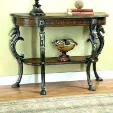 half round console table with drawers half circle entry table semi circle console table half circle