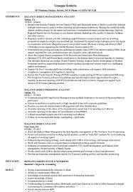 Balance Sheet Analyst Resume Samples Velvet Jobs