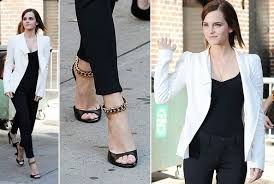Stylish white pants ideas for ladies Summer Outfits Celebrity Outfit Idea To Steal Emma Watsons Black And White Pants Look Outfit Ideas Livingly Livingly Celebrity Outfit Idea To Steal Emma Watsons Black And White Pants