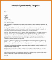 8 Sponsorship Proposal Examples Phoenix Officeaz