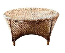 rattan coffee table ffee vintage for round with glass top square
