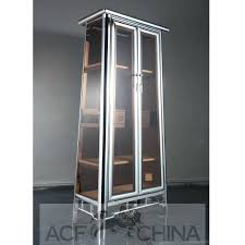 metal glass cabinet contemporary stainless steel chrome and glass cabinet metal frame glass kitchen cabinet doors