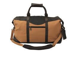 canyon outback utah canyon collection 22 canvas and leather duffel bag brown