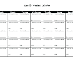Blank Workout Chart Exercise Template Log Sheet Weekly