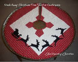Quilted Christmas Tree Skirt Pattern Custom Decoration