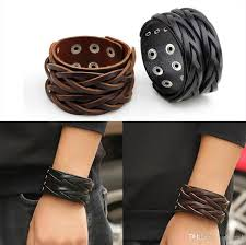 2019 american biker punk 4cm wide leather bracelet double buckle mens womens cool retro cuff bangle wristband black brown from shicool 2 88 dhgate com