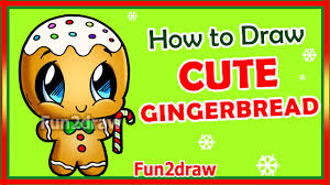 how to draw easy step by step gingerbread man fun2draw you
