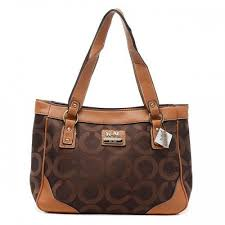 Coach Legacy Logo Signature Large Coffee Totes BRF