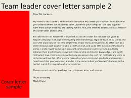 Resume Cover Letter Team Leader Team Leader Cover Letter 3