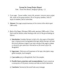 Project Report Examples Samples Word Group Sample Cover Letter ...