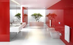 Refreshing And Posh Contemporary Bathroom Dazzles With Colorful CharmModern Bathroom Colors