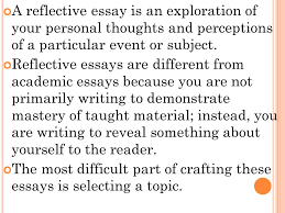 r eflective w riting t alking higher english dumbledore i  a reflective essay is an exploration of your personal thoughts and perceptions of a particular event