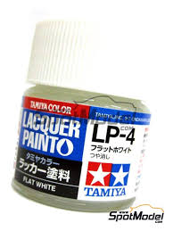 Tamiya Lacquer Paint Chart Flat White Lp 4 1 X 10ml Lacquer Paint Manufactured By Tamiya Ref Tam82104 Also 82104