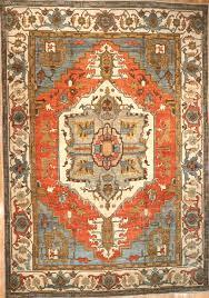 large semi old persian serapi rug