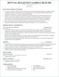 Dental Hygienist Resume Template Resume Letter Collection
