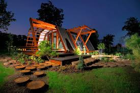View in gallery night view - self-sustainable house