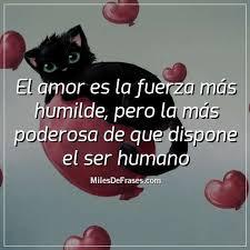 El amor es la fuerza más humilde, pero la más poderosa de que dispone el  ser humano - Imágenes con frases para facebook. Frases en latin, frases  inspiradoras, frases hermosas