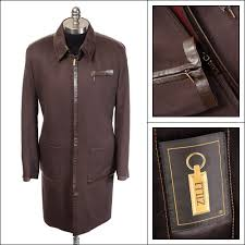 details about nwt zilli maestro chocolate brown cashmere leather field jacket 52 l 42