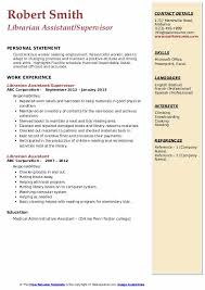 Librarian Assistant Resume Samples Qwikresume