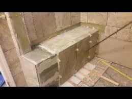 tile shower bench. Brilliant Tile How To Tile A Shower Bench  Part 1 Step By DIY E