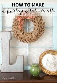 easy burlap petal wreath