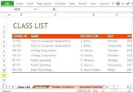 Class Planner Online Student Daily Schedule Planner Online Free Template Class