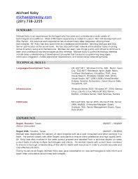 Resume Template Senior Net Developer Resume Sample Free Career