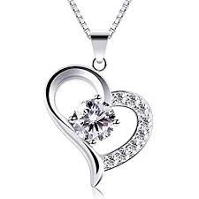 B.Catcher <b>Heart Necklace 925 Sterling</b> Silver Cubic Zirconia ...