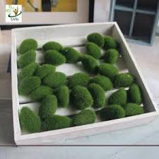 Decorative Moss Balls UVG Different Size Fuzzy Artificial Decorative Moss Balls Fake 64