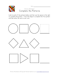 Patterns For Preschool Amazing Easy Preschool Patterns Worksheet 48 Black And White All Kids Network