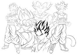 Dragon Ball Z Coloring Pages Goku Super Saiyan 5 At Getdrawingscom