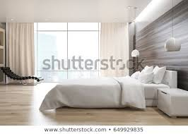 Bedroom side view Messy Bed Side View Of Gray Wall Bedroom Interior With Double Bed Bedside Table Shutterstock Side View Gray Wall Bedroom Interior Stock Illustration 649929835