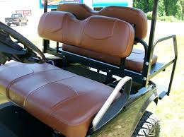 golf cart seat replacement with saddle brown seat covers