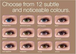 Fresh Look Colored Contact Lenses Chart 2019