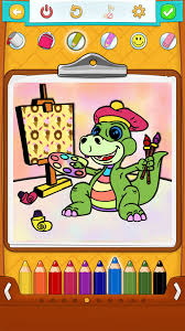 Small Picture Dinosaur Coloring Pages for Kids Android iPhone iPad app