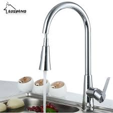 pull out bathroom faucet silver swivel single handle hole kitchen