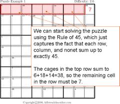 Killer Sudoku Combinations Chart Killer Sudoku Tips And Strategies
