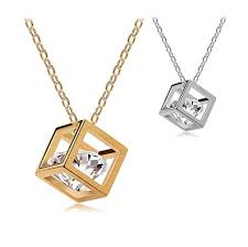 small necklaces whole new small accessories magic cube necklace short design chain gold flxrris