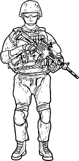 New Soldier Coloring Page Wecoloringpagecom