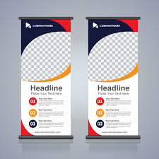 banner design template roll up brochure flyer banner design template abstract background