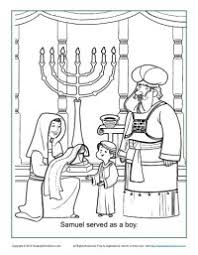 Small Picture Samuel Served as a Boy Coloring Page Childrens Bible Activities