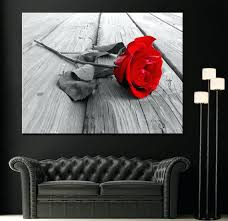 black white and red wall art black white red canvas wall art