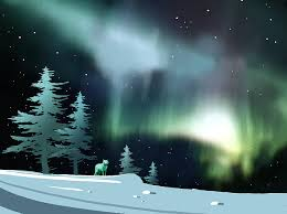 northern lights painting northern lights by paul sachtleben